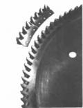 Пилы дисковые сегментные для металла, сталь Р6М5