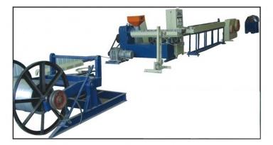 Линия для нанесения ПВХ-покрытия на стальную проволоку